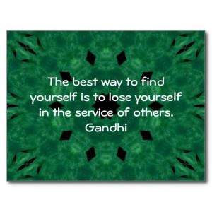Gandhi Inspirational Quote