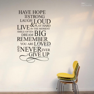 ... Large Vinyl Wall Lettering Stickers Quotes and Sayings Home Art Decor