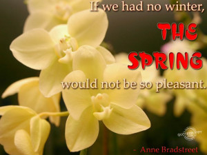 spring is almost here quotes | ... most beautiful weather is in spring ...