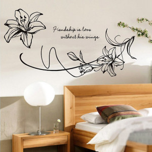 Home » Large Lily Flower and Quotes Decor Wall Art Sticker