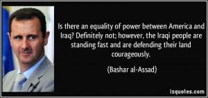 More Bashar al-Assad Quotes