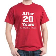 20th Anniversary Funny Quote Dark T-Shirt for