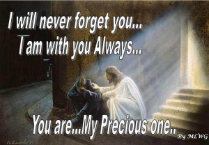 will not leave you comfortless: I will come to you. (John 14:18)