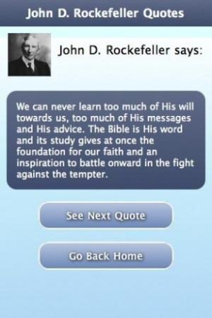 View bigger - John D. Rockefeller Quotes for Android screenshot