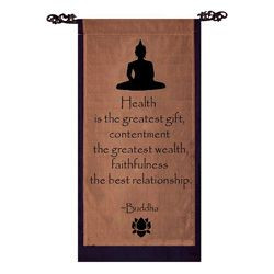 Cotton Buddha Quote Scroll (Indonesia) | Overstock™ Shopping - The ...