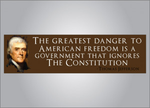 Thomas Jefferson quote ignores constitution