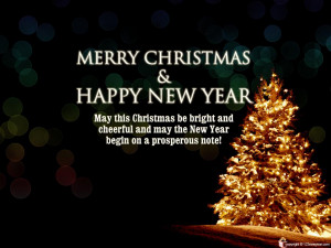Cute Christmas Quotes and New Year Wallpaper Wallpaper