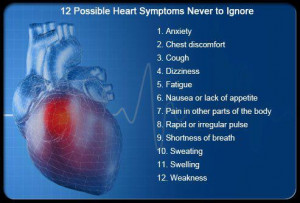 Heart Symptoms Never To Ignore , Live Healthy, Health Tips, Healthy ...
