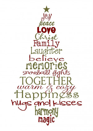 Christmas Sayings A christmas tree of memories