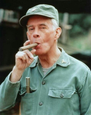 Harry Morgan as Col. Sherman T. Potter on M*A*S*H
