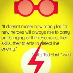 Wally West, Young Justice quote. More