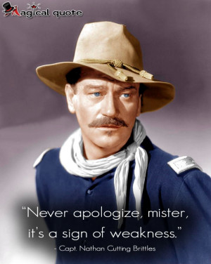 ... , mister, it's a sign of weakness. #JohnWayne #moviequotes #quotes