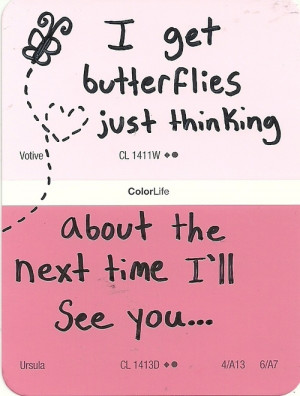 ... paint saying paint samples butterflies cute quote sample cute saying
