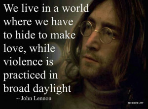 john lennon quotes on violence quotesgram