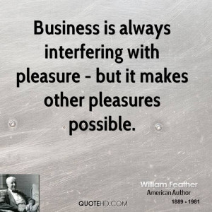 William Feather Business Quotes