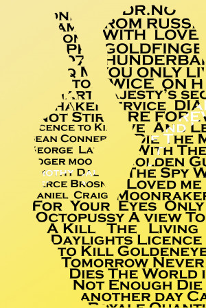 James Bond Typography Art