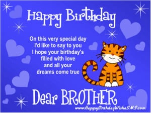 ... wishes for brother – Happy Birthday Brother Quotes, Picture Messages