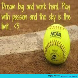 Softball Athlete Life Dreamer Quote