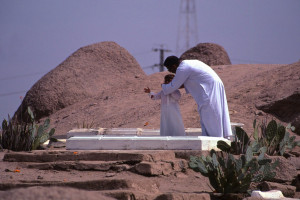 ... , usually with the simplest of grave markers. (Cemetery at Siwa