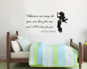 ... ll be here for you' Jasmine Disney Princess Quote Wall Sticker Vinyl