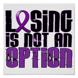 Losing Is Not An Option Lupus Poster