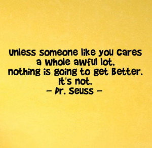 Someone Like You Cares A Whole Awful Lot....Wall Art Vinyl Decal Quote ...