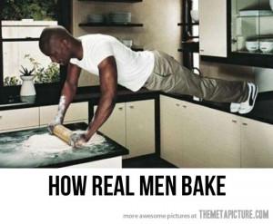 Funny photos funny black man baking bread