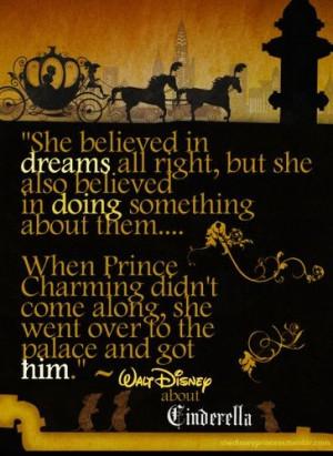adorable, cinderella, disney, dreams, prince charming, quote, the dark ...