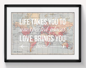... Gift, Travel, Valentines, Leaving Gift, Wanderlust, Home Quote, Map