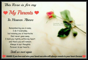 miss you Mom and Dad, every day!