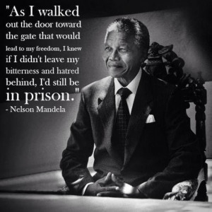 As I walked out the door toward the gate that would lead to my freedom ...