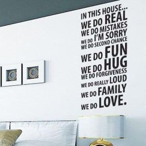 Family Love Hope Wall Quotes Wall Art / Wall Stickers / Wall Decals ...