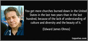 You get more churches burned down in the United States in the last two ...