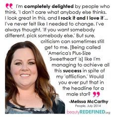 ... power melissa mccarthy quotes body inspiration feminist women melissa