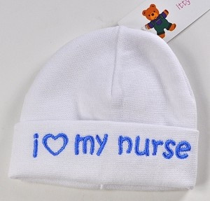 ... Baby Blue I love My Nurse Hat - fits 2-5 lbs From The Preemie Store