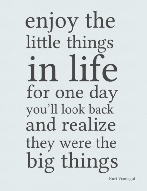 ... Life And Success: Enjoy The Little Things In Life Quote In Cute Design