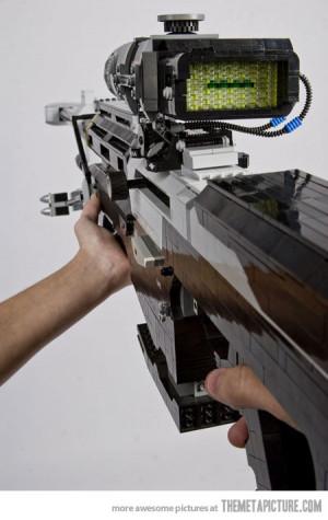 Funny photos cool Halo gun LEGO