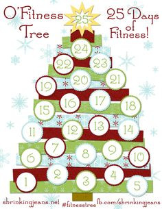 Fitness Tree printable exercise tracker for the month of December ...