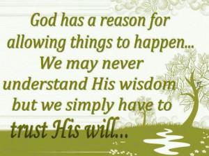 Trust, believe & have faith