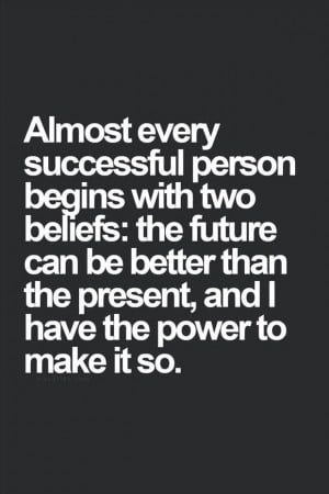 The two beliefs you should keep at the forefront of your mind: