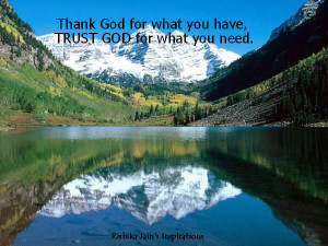 God QUOTES, Trust Quotes, Trust God for what you need. Inspirational ...