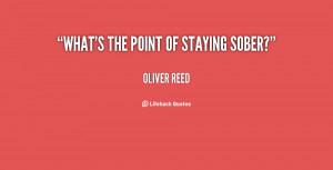 stay sober