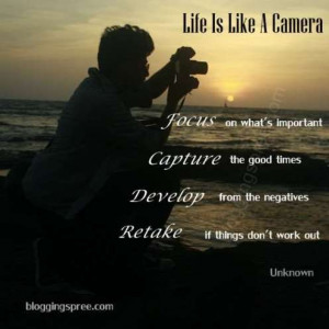 Life Is Like A Camera Quote As Applied To Blogging Or IM