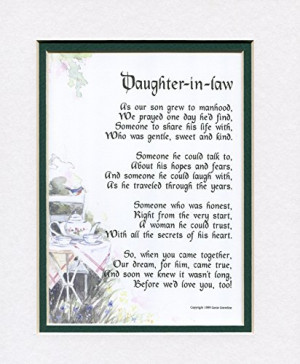 Daughter in Law Birthday Poem