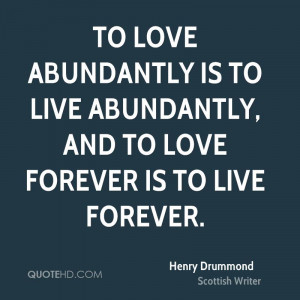 Henry Drummond Love Quotes