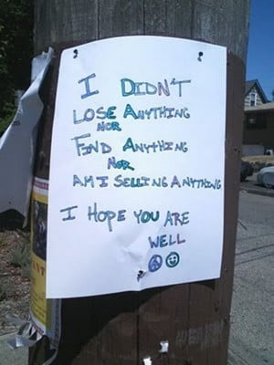 30 Funny Lost and Found Signs, funny missing signs, funny missing ...