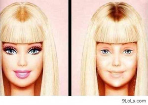 Barbie without makeup - Funny Pictures, Funny Quotes, Funny Videos ...