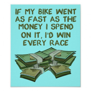 Motorcycle Racing Funny Poster Sign