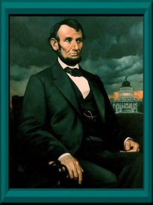 The oil painting of Lincoln is by artist and sculptor Richard R ...