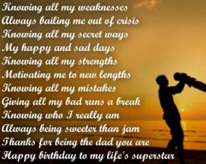 ... Birthday DAD Quotes from Daughter & Son – To My Father (Best Daddy